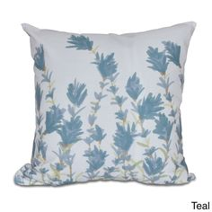E by Design Lavender Floral Print 20-inch Pillow