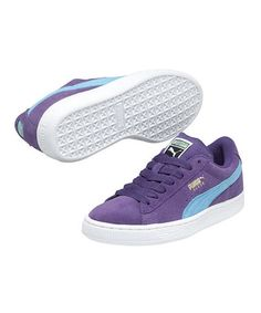 Take a look at this Heliotrope Suede Junior Sneaker by PUMA on #zulily today!