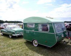 Green Dynaflow & Caravan by MGSpiller, via Flickr