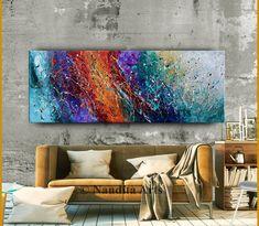 Acrylic Artwork, Abstract Wall Art, Canvas Artwork, Oil Painting On Canvas, Canvas Wall Art, Large Artwork, Extra Large Wall Art, Jackson Pollock Art, Decoration