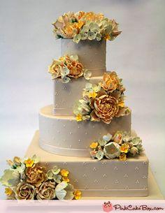 4 Tier Flower Wedding Cake