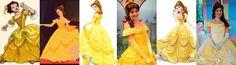 Belle dress evolution