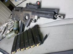This frankengun cost its builder just $100 in parts. The stock is part steel and part polymer from a H&K SL8 rifle, the recoil spring is from an FAL, the bolt and barrel are from a Sten submachine gun. Why are no major manufacturers making a badass gun like this? *[ Many thanks to Chris …   Read More …