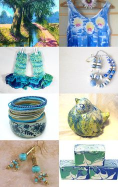 """""""By the Creek Side"""" by PNLJewelryDesigns --Pinned with TreasuryPin.com"""