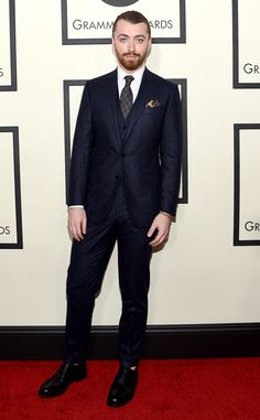 Sam Smith Will Need an ''English Cup of Tea'' and ''British Milk'' to Calm His Nerves for His First Time at the Oscars  Sam Smith, 2016 Grammy Awards