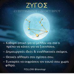 Ο Ζυγός (γεννημένος μεταξύ της 24ης Σεπτεμβρίου και της 23ς Οκτωβρίου) είναι το έβδομο ζώδιο του ζωδιακού κύκλου. Είναι ένα ζώδιο του αέρα και κυβερνάται από τον πλανήτη Αφροδίτη.  Ωροσκόπιο Ζυγός 2020 Ζυγέ μου αυτή η χρονιά σύμφωνα με το ωροσκόπιο σας θα είναι μία χρονιά με μεγάλες αλλαγές. Η προσωπική σας ανάπτυξη και η κατανόηση των καταστάσεων θα σας βοηθήσει αυτές οι αλλαγές να είναι ευνοϊκές για εσάς. Astrology, Zodiac, Movie Posters, Film Poster, Horoscope, Billboard, Film Posters