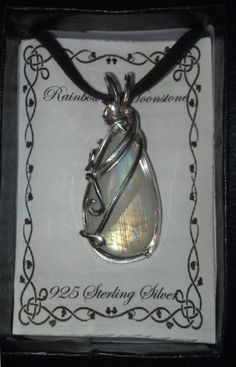 14 ct Rainbow Moonstone wrapped in 925 Sterling by GypsyNonnie, $45.00