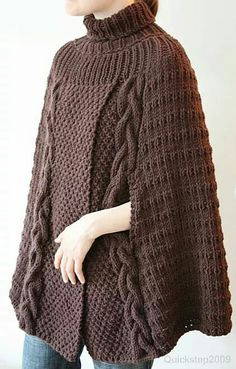 56 Ideas for knitting patterns poncho winter Knitted Cape, Knitted Shawls, Crochet Shawl, Crochet Baby, Knit Crochet, Poncho Knitting Patterns, Knitting Yarn, Knit Patterns, Baby Knitting