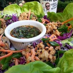 - @Flavorgod Gluten Free Chicken Lettuce Wraps - If you don't make these lettuce wraps at least make the Sauce!! The Sauce is amazing! ! And it works well as a marinade or dipping sauce! These have NO Soy, NO Wheat, and NO Refined Sugars! - Recipe: @Flavorgod DIPPING SAUCE - Combine all ingredients below into bowl INGREDIENTS ●2oz. -Coconut amino ●1/2tbps.- Apple cider vinegar ●1ts. -Honey ( local , raw) ●Few drops of- sesame oil (optional) ●1 -limes, juice ●2 -garlic clove (min