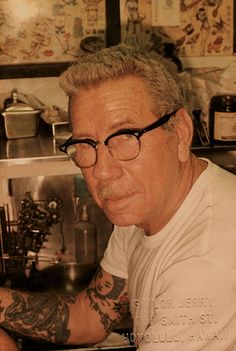 """Norman """"Sailor Jerry"""" Collins ✯666✯ Thanks for the ink and the Rum old man."""