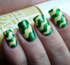 Spring Zig-Zag manicure Tutorial/How to!