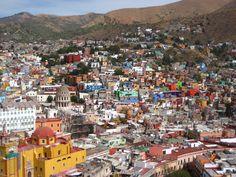 view of Guanajuato from El Pipila