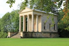 Ionic Temple, Rievaulx Terrace    The Ionic Temple was built in the mid 1700s as a banqueting house by the owner of Duncombe Park, a few miles away. It is based on the Temple of Fortuna Virilis in Rome.