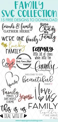 Cricut Svg Files Free, Free Svg Cut Files, Happy Everything, Family Is Everything, Family Signs, Family Quotes, Make A Family, Cricut Craft Room, Family Memories