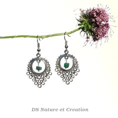 Gemstone jewelry malachite earrings bohemian by DSNatureetCreation www.etsy.com/listing/237933682/gemstone-jewelry-malachite-earrings