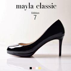 """mayla classic Edition7 Evain「『痛くない、歩きやすい、そして美しい…永遠のフェイバリットアイテム』""""日本人の足に最も合う、履き心地の良い靴とは何か""""最新モデルでは""""日本人の足に最も合う、履き心地の良い靴とは何か""""という要素を研究し取り入れる事で美しいシルエットはそのままに従来にない快適な履き心地と耐久性を実現しました。」 #pumps #fashion #mayla_classic"""