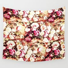 Romantic Cream Roses Wall Tapestry by azima Rose Wall, Cream Roses, Laptop Sleeves, Wall Tapestry, Vivid Colors, Duvet Covers, Indoor, Romantic, Tapestries