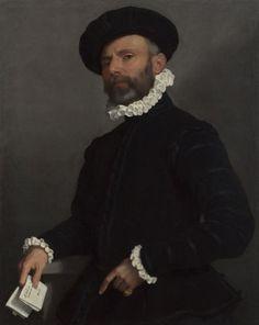 Giovanni Battista Moroni - Ritratto di uomo con lettera (L'Avvocato) - olio su tela - 1570-1575 ca. - National Gallery, Londra.