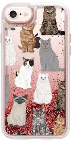 Casetify iPhone 7 Liquid Glitter Case - Cat breeds must have cat lady gifts unique one of a kind transparent cell phone case pet friendly designs  by Pet Friendly