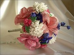 Wedding bouquet of beads
