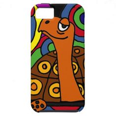 Funny BoxTurtle Art Design iPhone 5 Covers #turtles #box #funny #art #animals #zazzle #petspower