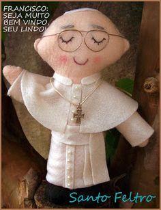 By Manu Alexandrino Artesanatos: Papa Francisco em Feltro