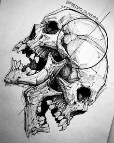 Skull art tattoo sketches design 45 Ideas for 2019 Tattoo Design Drawings, Skull Tattoo Design, Skull Design, Skull Tattoos, Tattoo Sketches, Drawing Sketches, Drawing Ideas, Drawing Drawing, Tattoo Designs