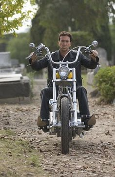 ~Nicolas Cage on his Harley~~