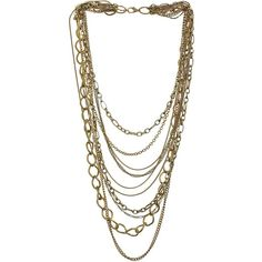 Gold Chain Necklace ($16) ❤ liked on Polyvore