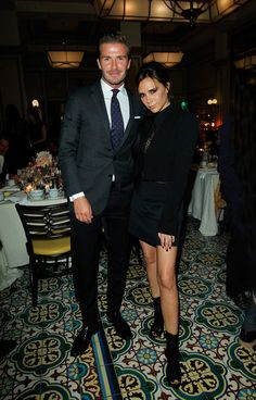 David and Victoria Beckham at the CFDA/Vogue Dinner. @Celebstylewed