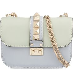 VALENTINO - Rockstud pastel leather cross-body bag | Selfridges.com