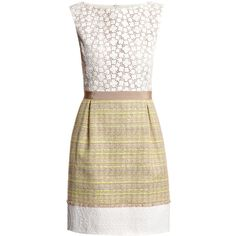 Giambattista Valli Bi-pattern dress ($1,458) ❤ liked on Polyvore
