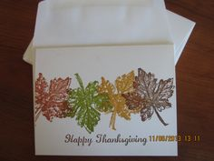 Stampin' Up Gently Falling
