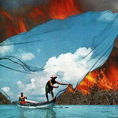 Catch a Fire // David Delruelle via Eugenia Loli Collage. Click on the image to see more!