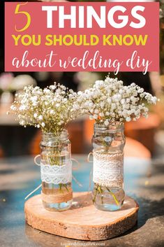 If you're planning to have a handcrafted, DIY wedding, there are plenty of mistakes to avoid. Read this guide to learn all about the 5 things you should know about wedding DIY.  #WeddingDIYMistakes #DIYWeddingTipsAndTricks #ModernWeddingHacks
