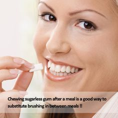 Dental tips by Element Dental-Chewing sugarless gum after a meal is a good way to substitute brushing in between meals; it can help remove food particles from between the teeth.