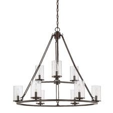 Buy the Quoizel Western Bronze Direct. Shop for the Quoizel Western Bronze Buchanan 9 Light Wide Chandelier with Glass Cylinder Shade and save. Foyer Chandelier, Farmhouse Chandelier, Wagon Wheel Chandelier, Chandelier Shades, Chandelier Lighting, Farmhouse Lighting, Pendant Lights, Buchanan, Quoizel Lighting