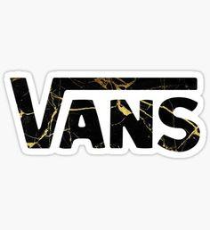 Vans Logo Marble Sticker