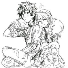 astrid hofferson blush braid facial hair heart hiccup horrendous haddock iii how to train your dragon indian style kanapy monochrome one eye closed pteruges single braid sitting sketch smile - Image View - Httyd Dragons, Dreamworks Dragons, Disney And Dreamworks, Dragon 2, Dragon Rider, Hiccup And Toothless, Hiccup And Astrid, How To Train Dragon, How To Train Your