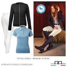 This week's style steal inspiration comes from the stunning @brandicyrus in the AA Platinum Arianna jacket and Elisa Bamboo Polo which we are giving away this week... See our previous post to enter! Fantastic editorial from @theplaidhorsemag and @equlifestyleboutique, don't forget to stop by their booth at @devon1896 this week! #aaridingstyle #brandicyrus #stylesteal #treatyourselfthursday #aaplatinum #wearwhatyoulike