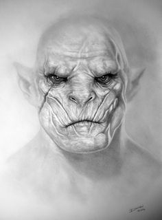 Azog by paavool on DeviantArt Hobbit Tolkien, Hobbit Art, Lotr, The Hobbit, Lord Of The Rings Tattoo, Daffodil Tattoo, Sword Drawing, John Howe, Art Challenge