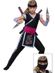 ninja costume girl