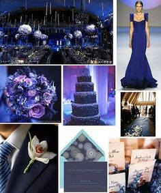 My wedding colours: navy/midnight blue and silver. (this has always been one of my choices :) )