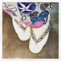 新しい #下駄  #多奈ゑり #着物 #きもの #キモノ #kimono #着かた教室 #着付け教室 #着付け #福岡の着付け教室 #福岡 #着物コーデ  #着物コーディネート #着物でお出かけ #着物生活 #趣着物 #戸部田はきもの店 #クッション下駄 #箱崎