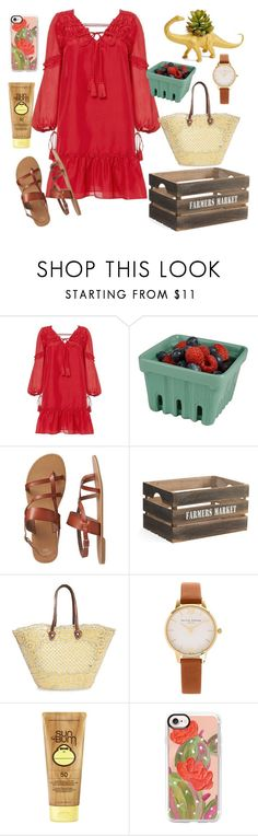 """Sun spots and vegetables"" by natspolyy on Polyvore featuring 10 Crosby Derek Lam, Artland, Gap, The Winding Road, Olivia Burton, Sun Bum, Casetify and The Plaid Pigeon"