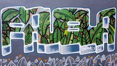 Favela ina jungle stylie by the man like @snorkel_1 down in Brighton.. #favela  #streetart #graffiti