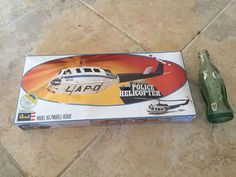 Sealed Revell Model Kit Of Bell Huey LAPD Police Helicopter 1978