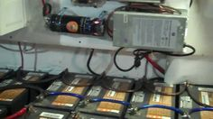 The Huge Battery Bank for Wind Turbine And Solar Panels Off Doomsay Prep...