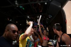 SOLdiers partying on the Aoki SOLdier Shuttle. Photo by PhotosalaQuang.com