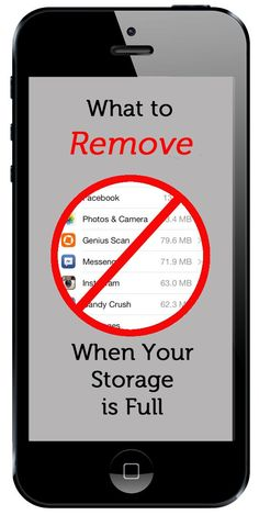 clearing up storage on an iphone